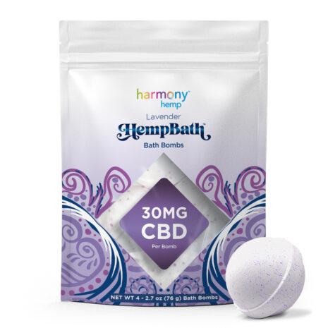 Harmony Hemp Lavender 4ct Bath Bomb 30mgCBD